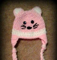 Crochet Infant Kitten Hat