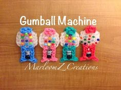 Rainbow Loom 2D Gumball Machine: How To tutorial by MarloomzZ Creations.
