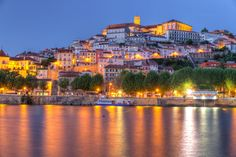 Coimbra is the academic center of Portugal. Photo of the old town of Coimbra