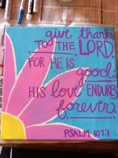 Bible verse painted canvas psalm