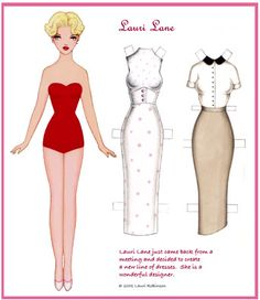 Lauri Lane paper doll by Lauri Robinson