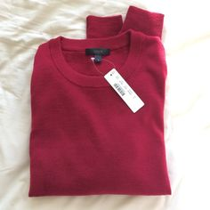 J. Crew Merino Wool Crewneck Sweater NWT Brand new with tags J. Crew merino wool crewneck sweater! Never worn. Color is ruby, a gorgeous red. Style number B7786. Size small. 100% merino wool. No trades. J. Crew Sweaters Crew & Scoop Necks