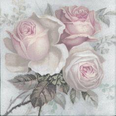 Decoupage Vintage, Decoupage Glass, Paper Napkins For Decoupage, Art Vintage, Vintage Cards, Vintage Paper, Decoupage Art, Vintage Images, Art Floral