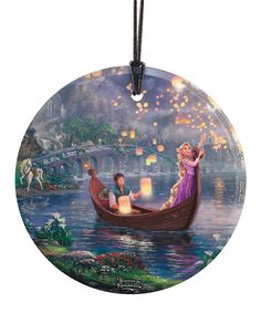 Look at this Tangled Lanterns Glass Ornament on #zulily today!