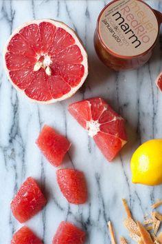 Meyer lemon red grapefruit marmalade- gotta try making! (from local kitchen blog)