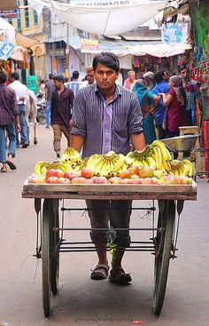 Street Fresh Fruit Seller | India