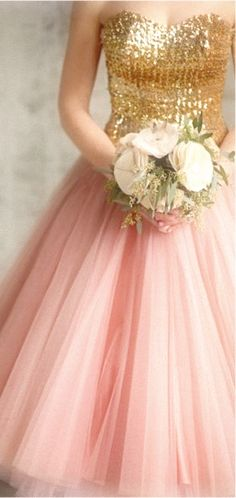 Stunning Pink And Gold Gown