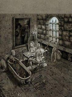 Elizabeth Bathory; preparing the bath