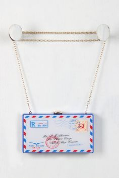 Post Marked Letter Clutch – Style Lavish