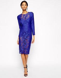 ASOS Premium Lace Bodysuit Dress