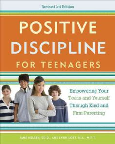 Positive Discipline for Teens - Cover image courtesy of Three Rivers Press.