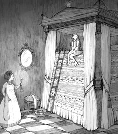 The princess and the pea. Illustration by Maria Nilsson