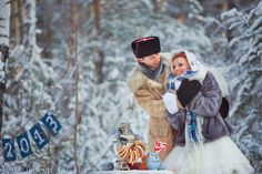 Siberian winter wedding.