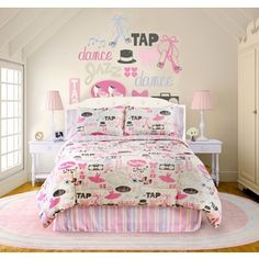 4-Piece Little Dancer Raspberry Queen Comforter Set 480164