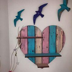 Dekoratif kalp raf, Ahşap boyama
