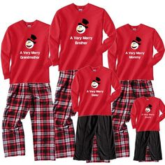 53798dcffe A Very Merry Personalized Snowman Christmas Sets Matching Christmas Pajamas