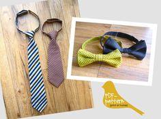 Child Tie & Bowtie PDF by twirlybirdpatterns