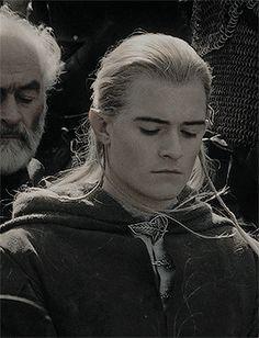 Legolas, Son of Thranduil, Prince of Mirkwood. In Sindarin: Legolas Thranduilion, Ernil o Mirkwood.