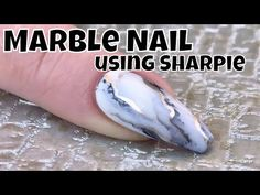 Marble Effect Nail using Sharpie - YouTube