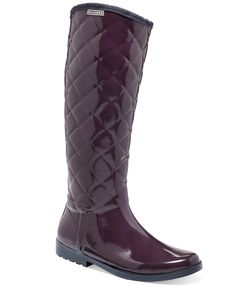 Tommy Hilfiger Vintage Tall Tufted Rain Boots - Shoes - Macy's