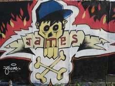 #james #djems #graffiti #street_art #deco #wall #spray #lambersart #mur_legal #fresque #skull #skate_park