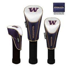 Team Effort Washington Huskies Headcovers 3-Pack - UW Huskies Gear - Team Logo Items - Accessories - Puetz Golf