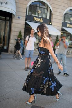 Miroslava Duma - Paris Fall 2015 Couture Week street style