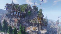 Media preview Minecraft Building Designs, Minecraft Banners, Minecraft Castle, Minecraft Medieval, Minecraft Room, Minecraft Blueprints, Minecraft Architecture, Minecraft Projects, Minecraft Ideas