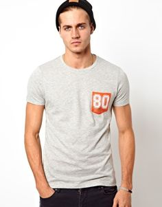 ASOS T-Shirt With Contrast Perforated Pocket