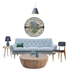 """Cornflower Blue"" by natalierosewastaken ❤ liked on Polyvore featuring interior, interiors, interior design, home, home decor, interior decorating, Dot & Bo, CB2, livingroom and Blue"