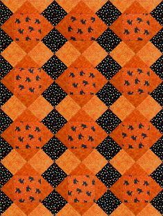 Black Cats Halloween Quilt Blocks Kit Pre-Cut - Quilt Kit Shop