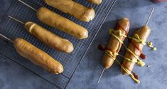 Corn dogs στο φούρνο