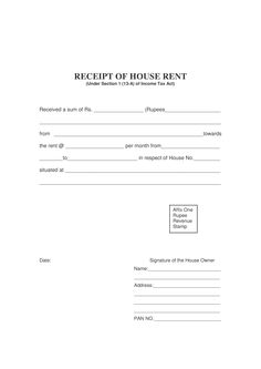house rent receipt how to create a house rent receipt download this house rent receipt template now