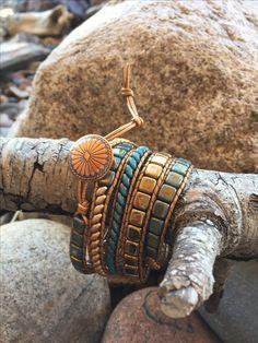 Debra Levens Jewelry Design Bead Loom Bracelets, Beaded Wrap Bracelets, Jewelry Crafts, Jewelry Ideas, Jewelry Design, Beaded Leather Wraps, Beaded Jewelry Patterns, Chan Luu, Beading Ideas