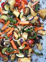 This Easy to cook healthy roast vegetable salad recipe from Monica's Archives is the perfect flavor-packed dish. Checkout now! Roasted Vegetable Salad, Vegetable Salad Recipes, Roasted Vegetables, Chaat Recipe, Kung Pao Chicken, Healthy Cooking, Dishes, Ethnic Recipes, Easy