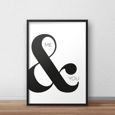 Me & you printable poster Black and white di PrintableAtelier