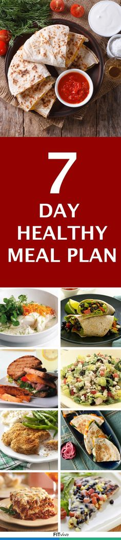 7 day healthy meal plan. #eatclean