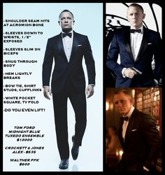 The perfect tuxedo fit, courtesy of Bond, James Bond - Imgur
