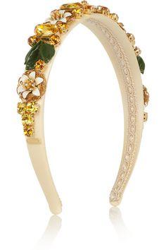 Dolce & Gabbana- Swarovski crystal-embellished silk headband