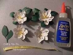 KattyXotica's Kreations: Working on Magnolia 3D Flower embellishments