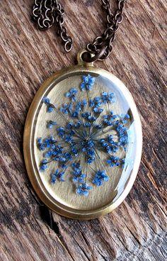Preserved floral necklace