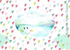 Happy Heart Cloud, illustration. Lees bijbehorend interview met illustrator Agnes Stapper