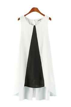 sleeveless color block dress