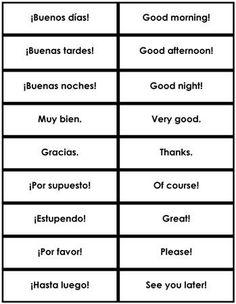 Spanish Phrases & Sentences from Montessori for Everyone
