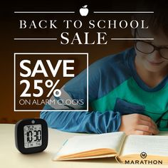 Alarm Clocks That Keep Your Young Ones On Time. Sale for Students #backtoschool