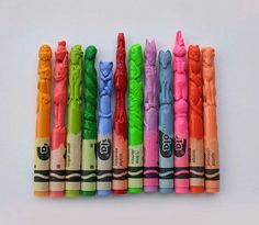Little crayon figurines...