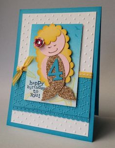 Stampin' Up! Punch Art Mermaid  by Carolyn Bennie