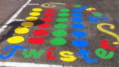 Step by step DIY instructions for how to paint asphalt games that you can add to your playground or other play space.