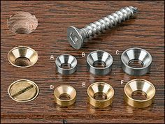 Lee Valley's new Countersunk Washers solve the problem of screw heads splitting stock. The washer/screw combination applies force the same way a pan-head screw does, but is counterbored to a flush position. They're availabe in brass or stainless steel, in #6, #8 and #10 sizes, A package of 10 is $3.40 – $7.20, and they're available direct from Lee Valley. More information is available here.