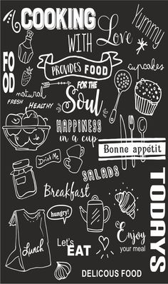 Krijtbord sticker – – Rebel Without Applause Chalkboard Art Kitchen, Chalkboard Art Quotes, Blackboard Art, Chalkboard Lettering, Chalkboard Designs, Kitchen Posters, Chalk Wall, Wall Art Wallpaper, Wall Drawing